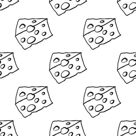 cheez: Cheese seamless thin line pattern vector illustration background. Repeating cheese seamless pattern background for food design and web