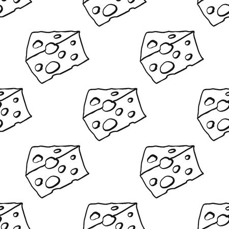 Käse nahtlose dünne Linie Muster Vektor-Illustration Hintergrund . Wiederholen von nahtlosen Muster Hintergrund für Lebensmittel-Design und Web Standard-Bild - 83237887