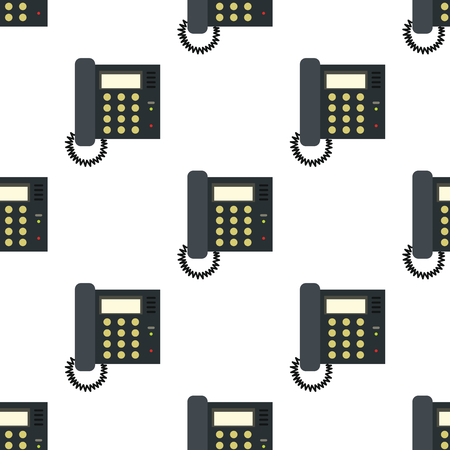 old telephone: Telephone seamless pattern in flat style isolated on white background vector illustration for web Illustration