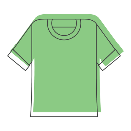 sleeve: Green shirt in doodle style icons vector illustration for design and web isolated on white background. Shirt vector object for labels and logo