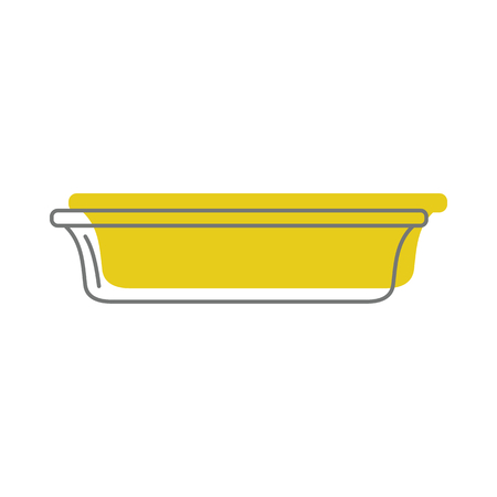 Yellow plate in doodle style icons vector illustration for design and web isolated on white background. Yellow plate vector object for labels and logo