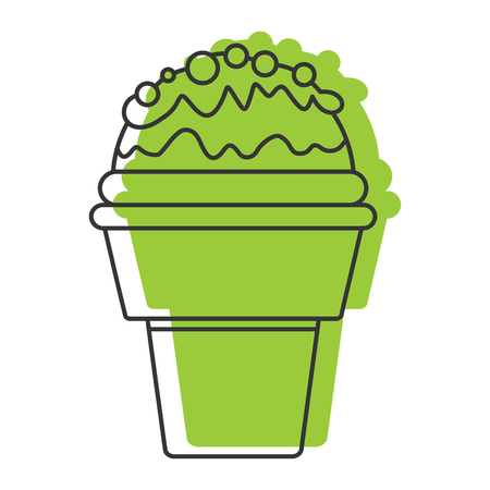 Pistachio ice cream doodle icon vector illustration for design and web isolated on white background. Ice cream vector object for labels, logos and advertising
