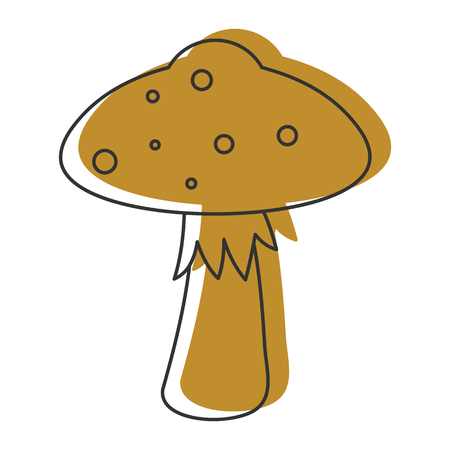 Amanita mushroom icon vector illustration for design and web isolated on white background. Mushroom vector object for labels, logos and advertising Illustration
