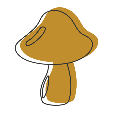 Russula mushroom icon vector illustration for design and web isolated on white background. Mushroom vector object for labels, logos and advertising