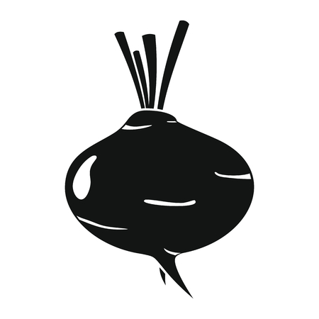 turnip: Turnip black simple silhouette icon vector illustration for design and web isolated on white background. Turnip vector object for labels, logos and advertising
