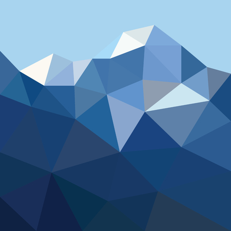 Low poygonal mountain in triangle style. Low polygonal background for mountain design and web