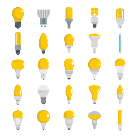 Collection of Light bulbs object for labels and advertising