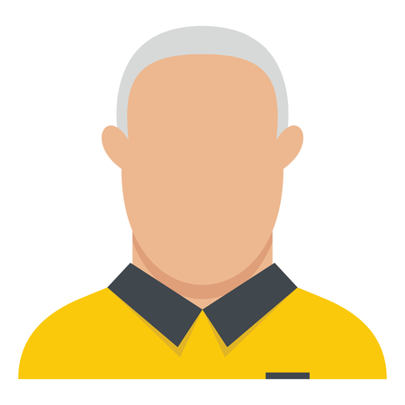 guy standing: Referee flat icon vector illustration for design and web isolated on white background. Referee vector object for label and advertising Illustration