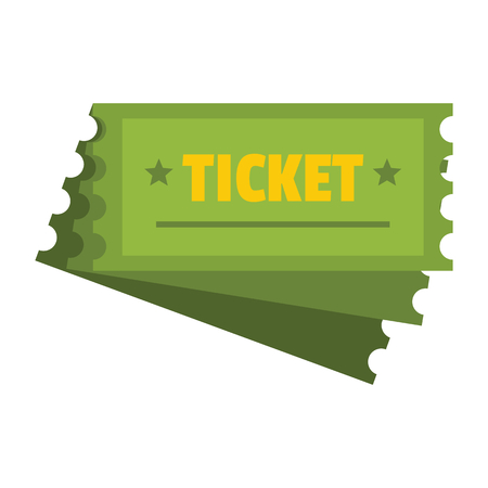 Ticket icon vector illustration for design and web isolated on white background. Soccer strategy tactic plan vector object for label and advertising