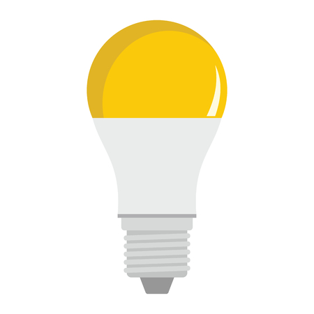 Luminescent light bulb flat icons set vector illustration for design and web isolated on white background. Luminescent light bulb vector object for labels, logos and advertising Stock Vector - 85565167