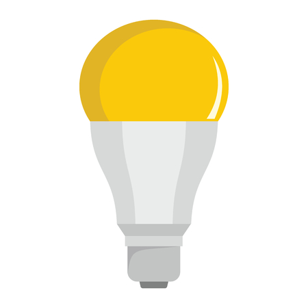 Luminescent light bulb flat icons set vector illustration for design and web isolated on white background. Luminescent light bulb vector object for labels, logos and advertising