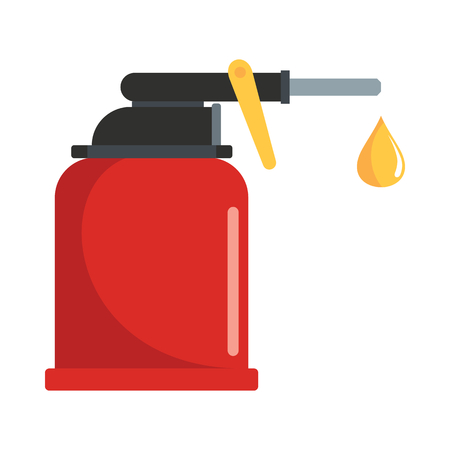 Oiler flat icon vector illustration for oil and petrol design and web isolated on white background. Oil petrol vector object for industry label web and advertising