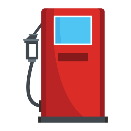 automotive industry: Petrol station icon vector illustration for petrol design and web isolated on white background. Petrol station vector object for label web and advertising