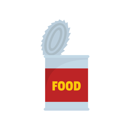 Food tin can icon. Flat illustration of Food tin can vector icon for web isolated on white background