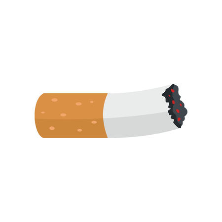 Cigarette butt icon. Flat illustration of Cigarette butt vector icon for web isolated on white background.