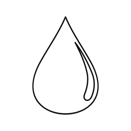 Oil drop icon. Black outline illustration of Oil drop vector icon for web isolated on white background Çizim