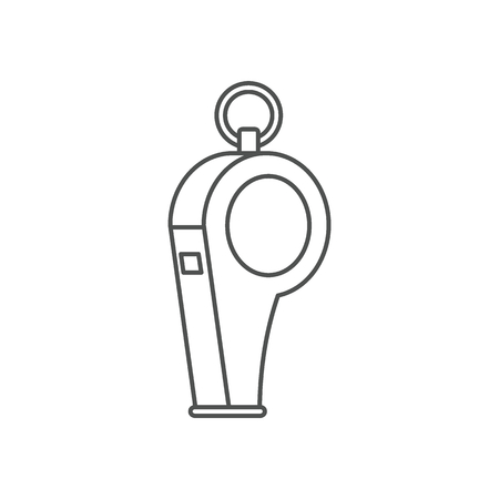 umpire: Whistle icon. Outline illustration of whistle vector icon for web isolated on white background. Illustration