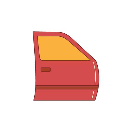 Auto Door icon. Cartoon illustration of Auto Door vector icon for web isolated on white background