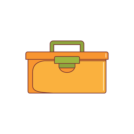Tools case icon. Cartoon illustration of Tools case vector icon for web isolated on white background Ilustração