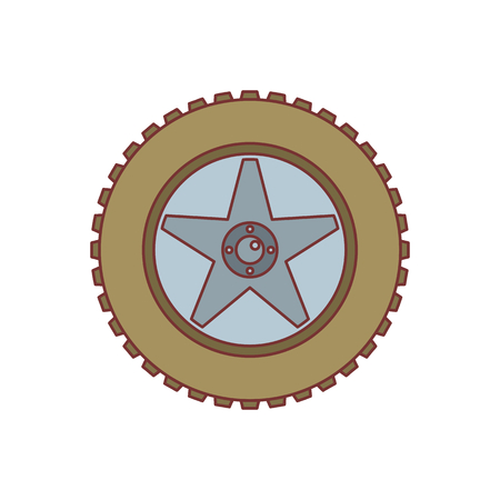 ring road: Car wheel icon. Cartoon illustration of Car wheel vector icon for web isolated on white background