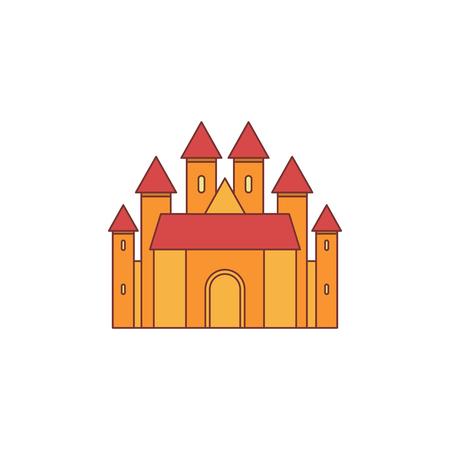 Mittelalterliches Königreich mit befestigter Mauer und Türmen icon
