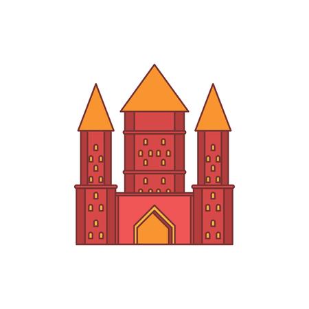 Royaume médiéval avec icône mur et tour fortifiée