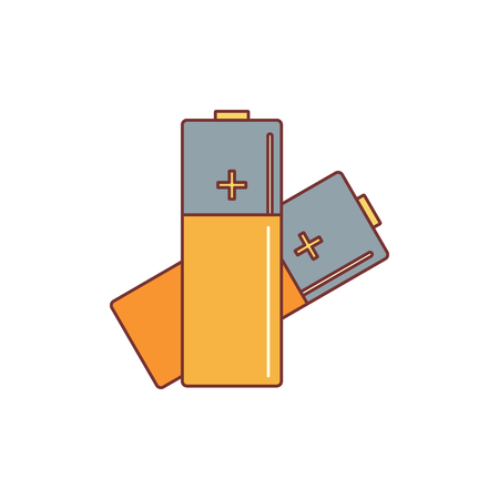 Battery icon. Cartoon illustration of battery vector icon for web isolated on white background. Illustration