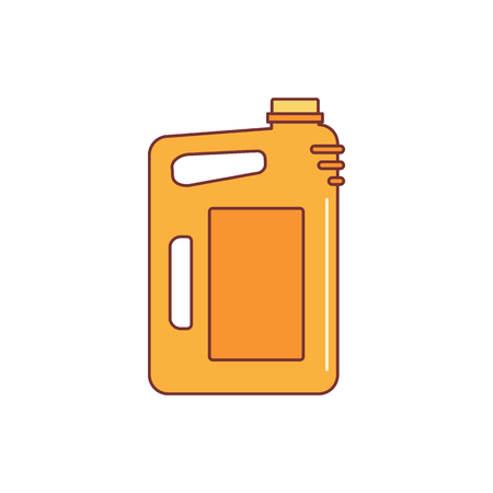 Canister of gasoline icon cartoon illustration for web design.