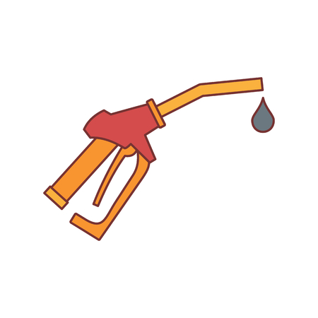 filling station: Fuel gun icon. Cartoon illustration of Fuel gun vector icon for web isolated on white background Illustration