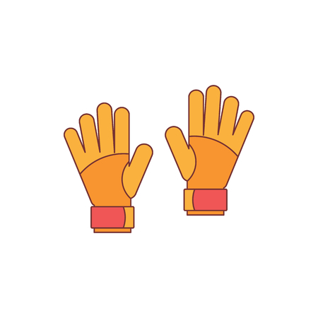 Goalkeeper gloves icon. Cartoon illustration of Goalkeeper gloves vector icon for web isolated on white background Illustration