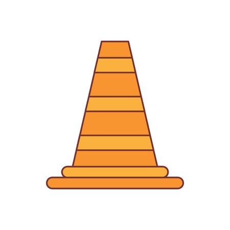 Road cone icon. Cartoon illustration of Road cone vector icon for web isolated on white background