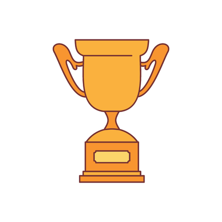 Trophy sport cup award icon. Cartoon illustration of Trophy sport cup award vector icon for web isolated on white background Illustration