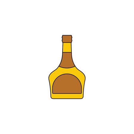 Icona di cognac Illustrazione del fumetto dell'icona di vettore del cognac per il web su fondo bianco Vettoriali