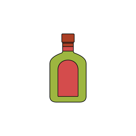 Rum icon. Cartoon illustration of rum vector icon for web isolated on white background