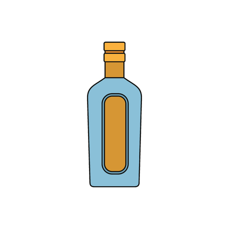 Alcohol drink icon. Cartoon illustration of Alcohol drink vector icon for web isolated on white background Illustration