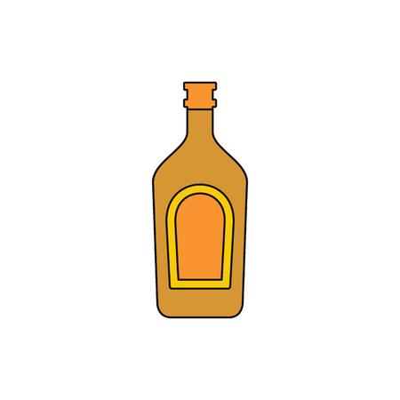 Whiskey icon. Cartoon illustration of Whiskey vector icon for web isolated on white background Illustration