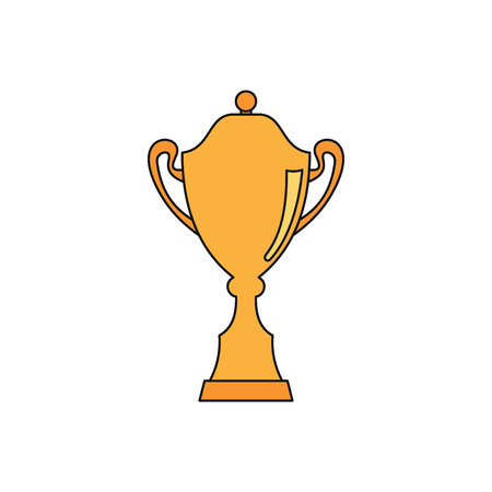 Sport award cup in cartoon style icons illustration for design and web isolated on white background.