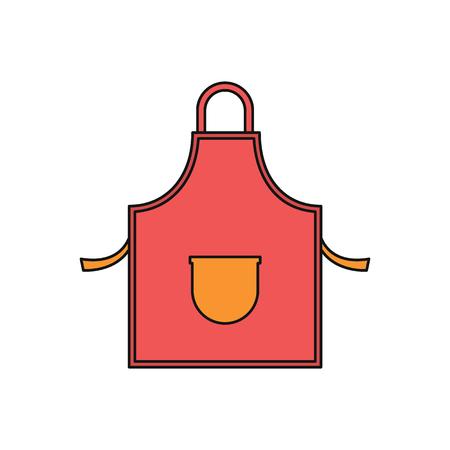 Kitchen apron cartoon icon. Vector illustration of Kitchen apron isolated on white background