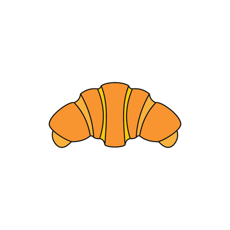 Croissant colorful bakery product cartoon icon. Vector illustration of Croissant product isolated on white background Illustration