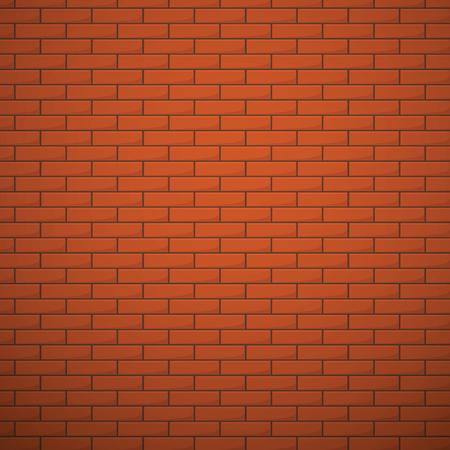 Orange brick wall vector seamless background. Texture with orange brick stone, seamless pattern illustration surface wall with bricks 일러스트