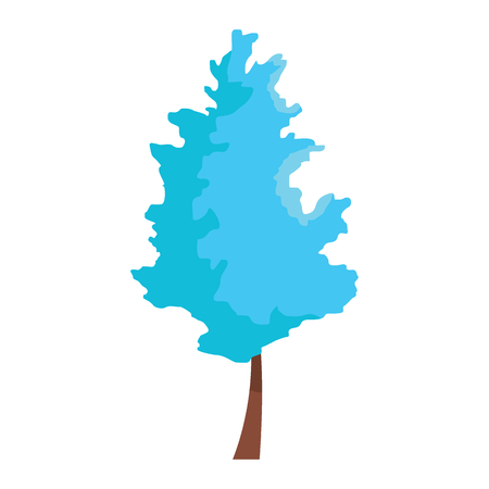Beautiful winter tree. Vector illustration of winter tree icon for web isolated on white background. Nature design object. Vettoriali