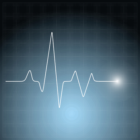 Healthcare vector medical background with white heart cardiogram. Vector cardiology concept with pulse rate diagram
