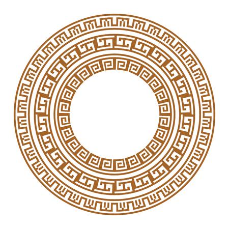 Ornamento griego griego antiguo en el fondo blanco. ilustración vectorial Foto de archivo - 95081516