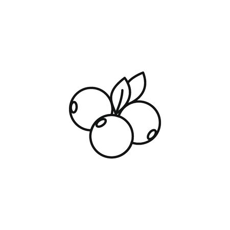 Berry icon outline style
