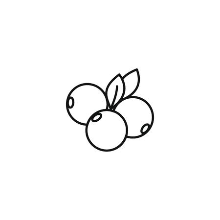 Estilo de contorno de icono de baya Ilustración de vector