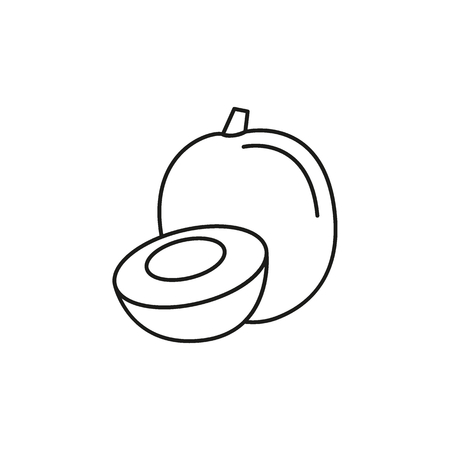 Fruit outline icon