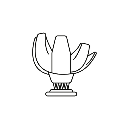 Art museum outline icon  symbol isolated on white background.  Vector illustration.