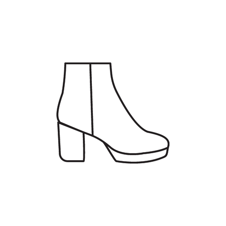 High boot icon. Vector high boot for fashion design on white background. Illustration