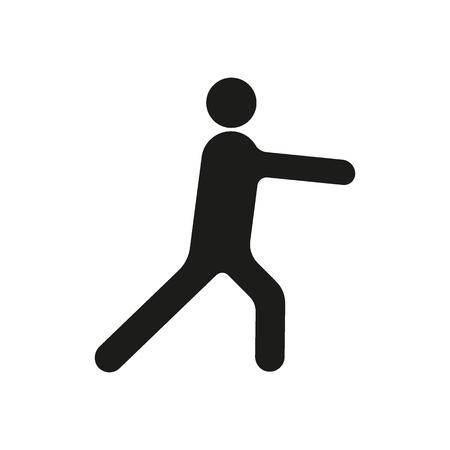 Karate silhouette icon
