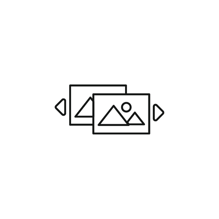 Virtual reality outline icon. virtual reality vector illustration on white background. Element for Virtual reality design and web Vectores